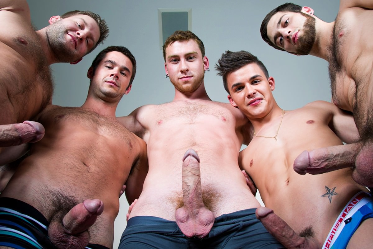 Hot men with their cocks out